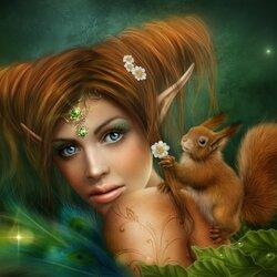 Пазл онлайн: Лесная принцесса