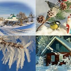 Пазл онлайн: Зимние сюжеты