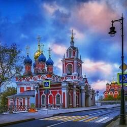 Пазл онлайн: Московские зарисовки