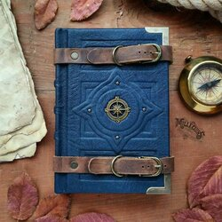 Пазл онлайн: Маленькая голубая книга компаса