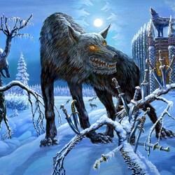 Пазл онлайн: Волкодлак