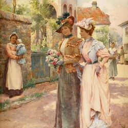 Пазл онлайн: Викторианские леди
