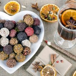 Пазл онлайн: Глинтвейн и конфеты