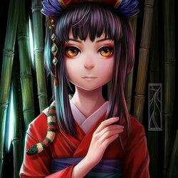 Пазл онлайн: Хранительница бамбука