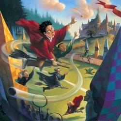 Пазл онлайн: Гарри ловит снитч