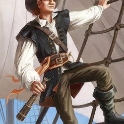 Пазл онлайн: Моряк