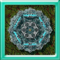 Пазл онлайн: Бирюзовый орнамент