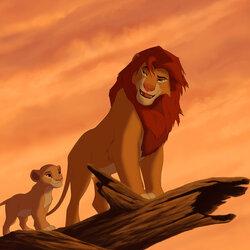 Пазл онлайн: Симба и его дочь Киара