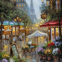 Пазл онлайн: Цветочный рынок в Париже