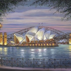 Пазл онлайн: Сиднейский оперный театр
