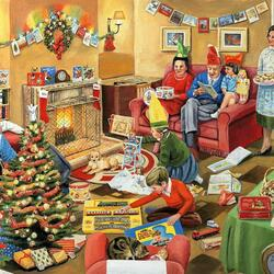 Пазл онлайн: Рождественская суета