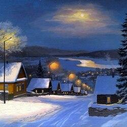 Пазл онлайн: Зимняя зарисовка