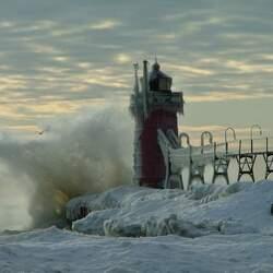 Пазл онлайн: Заледенелый маяк