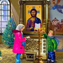 Пазл онлайн: Рождественская молитва