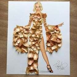 Пазл онлайн: Платье из лука
