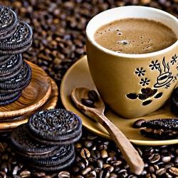 Пазл онлайн: Кофе и печенье