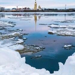 Пазл онлайн: Лед на Неве