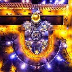 Пазл онлайн: Храм Спаса на Крови - вид сверху