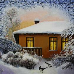 Пазл онлайн: Зимний вечер