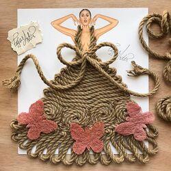 Пазл онлайн: Веревочное платье