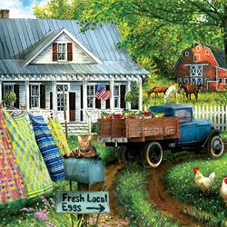 Пазл онлайн: Сельская местность