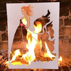 Пазл онлайн:  Девушка в огне