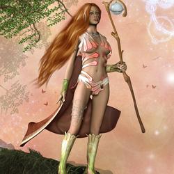 Пазл онлайн: Весенняя воительница