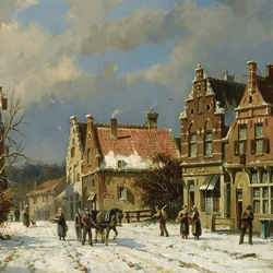 Пазл онлайн: Зимний город