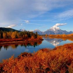 Пазл онлайн: Осень на реке