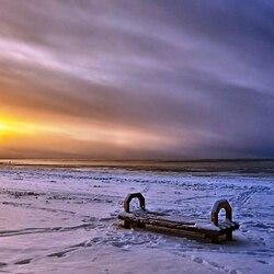 Пазл онлайн: Зимний пляж