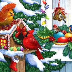 Пазл онлайн: Праздничный домик