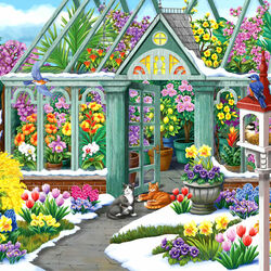 Пазл онлайн: Прекрасный весенний день