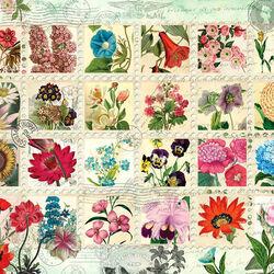 Пазл онлайн: Марки с цветами