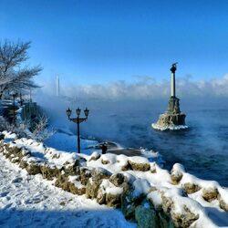Пазл онлайн: Зима в Севастополе