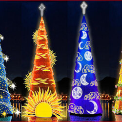 Пазл онлайн: Ёлки новогодние