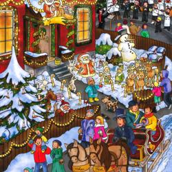Пазл онлайн: Рождественские гуляния