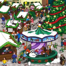 Пазл онлайн: Рождественская ярмарка