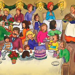 Пазл онлайн: Рождественская вечеринка