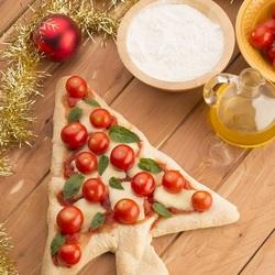 Пазл онлайн: Пицца-ёлочка