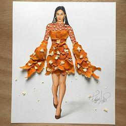 Пазл онлайн: Сделано из кожи мандарина