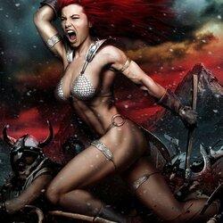 Пазл онлайн: Рыжая Соня в бою