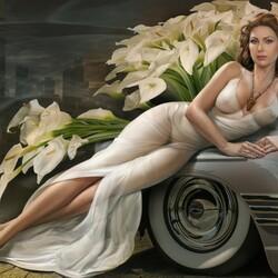 Пазл онлайн: Красивая женщина