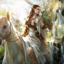 Пазл онлайн: На белом коне