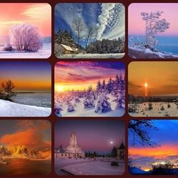 Пазл онлайн: Краски зимнего неба