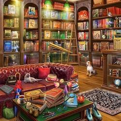 Пазл онлайн: Читальный зал