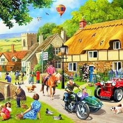 Пазл онлайн: Летняя деревня