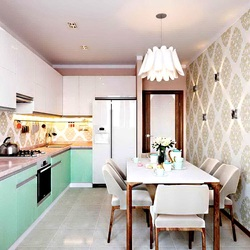 Пазл онлайн: Светлая кухня