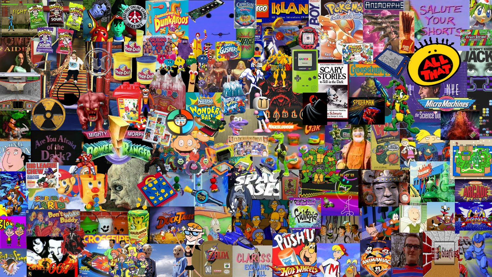 90s kids collage