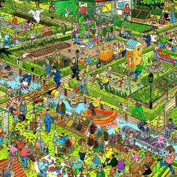 Пазл онлайн: Огородники