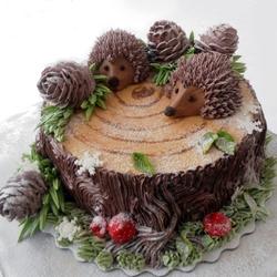 Пазл онлайн: Зимний торт